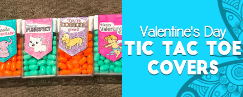 Valentine's Day Tic Tac Cover Craft