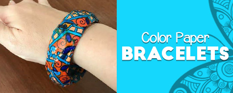 Make Coloring Page Bracelets Craft