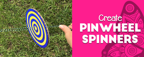 Pinwheel Spinners Coloring Craft