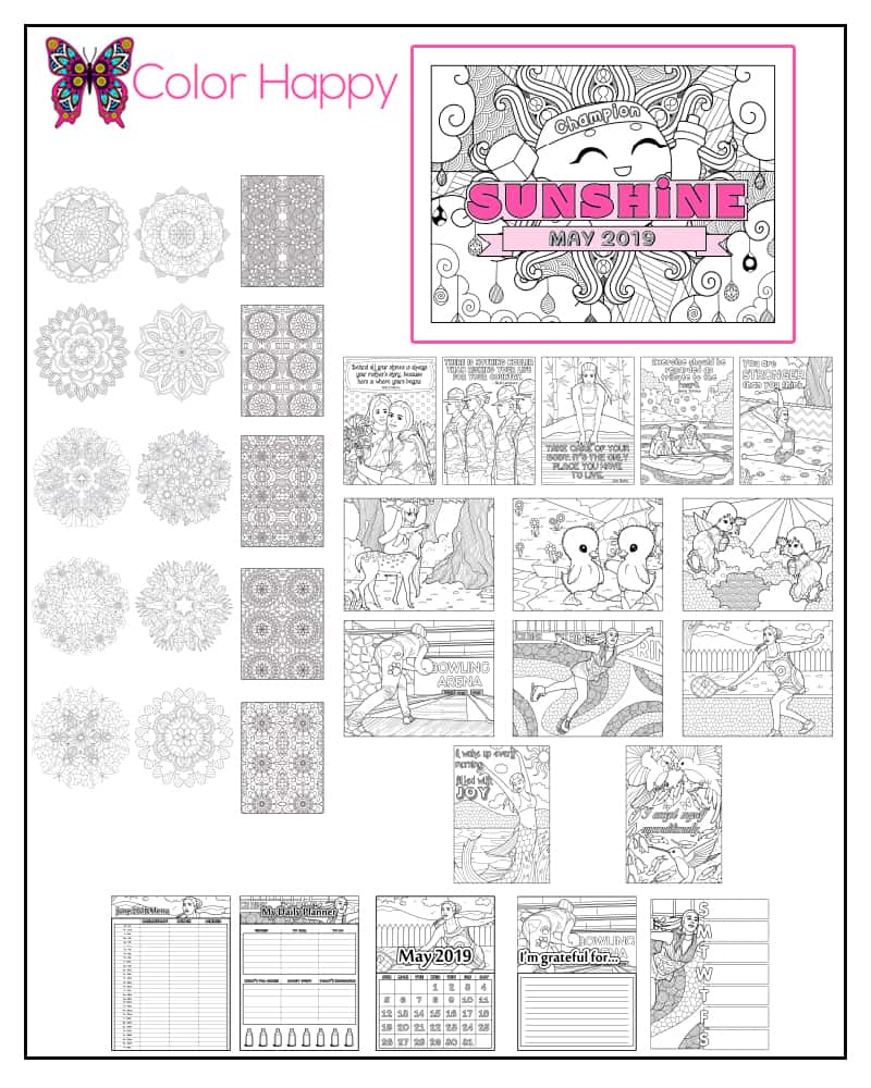 Color Happy Coloring Pages For Adults Spreading Joy Through Color