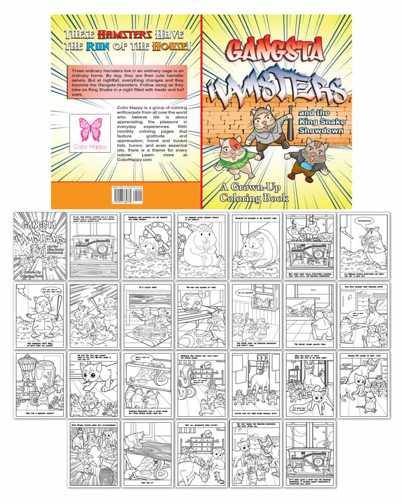 Gangsta Hamsters Coloring Book