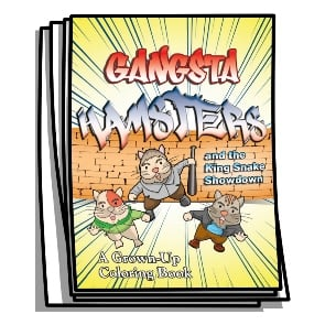 Gangsta Hamsters Coloring Pages