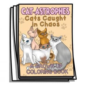Cat-Astrophes Coloring Pages