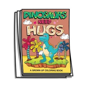 Dinosaurs Need Hugs Coloring Pages