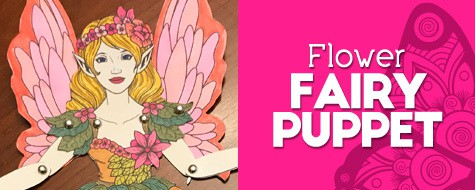 Flower Fairy Paper Puppet