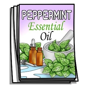 Peppermint Essential Oil Coloring Pages