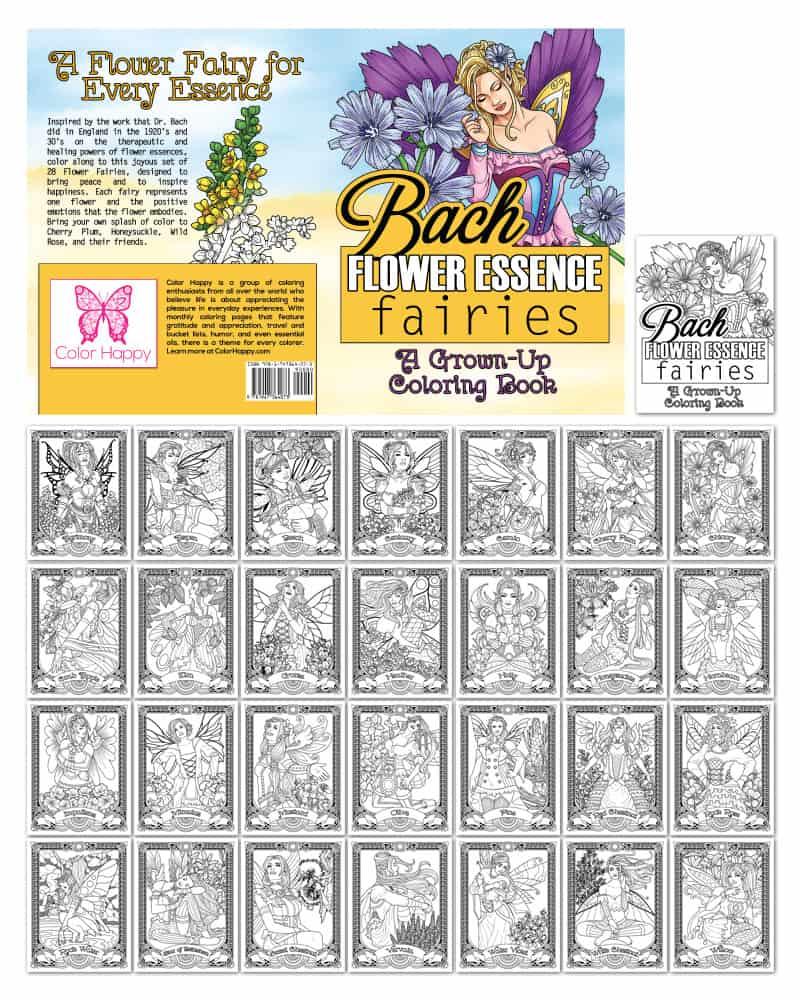 Bach Flower Fairies Coloring Book