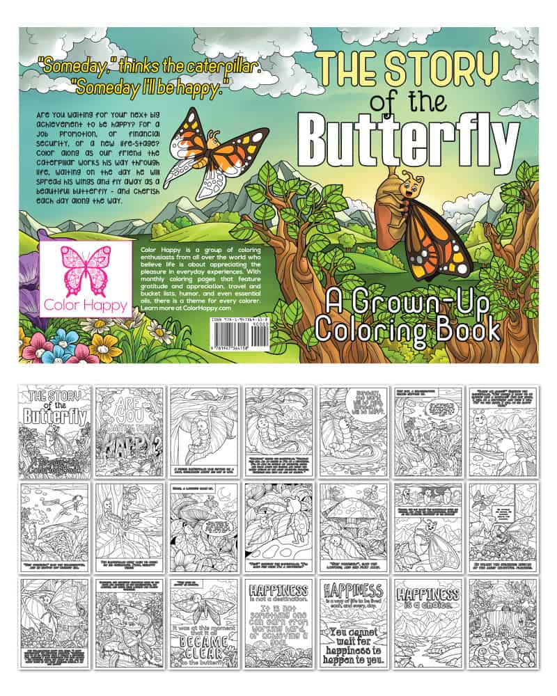 The Story of the Butterfly Coloring Book