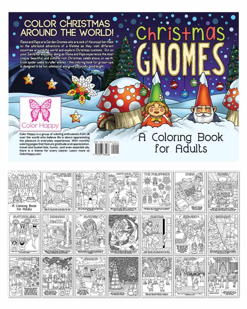 Christmas Gnomes Coloring Book