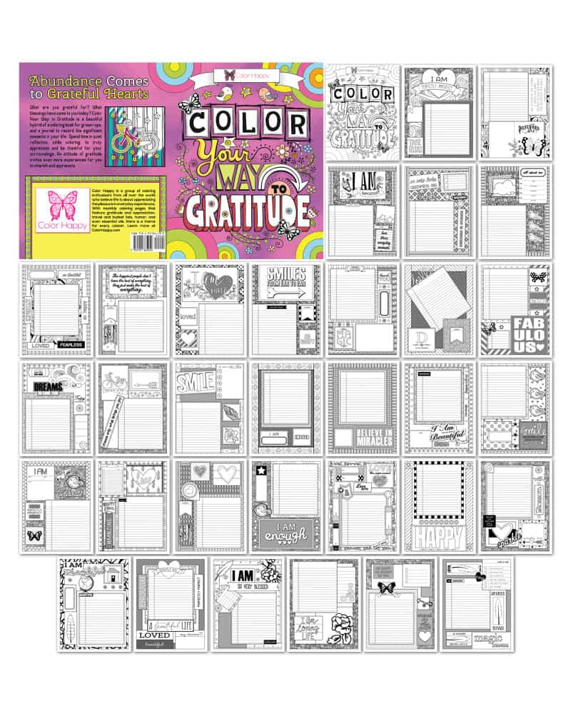 Color Your Way to Gratitude Coloring Book