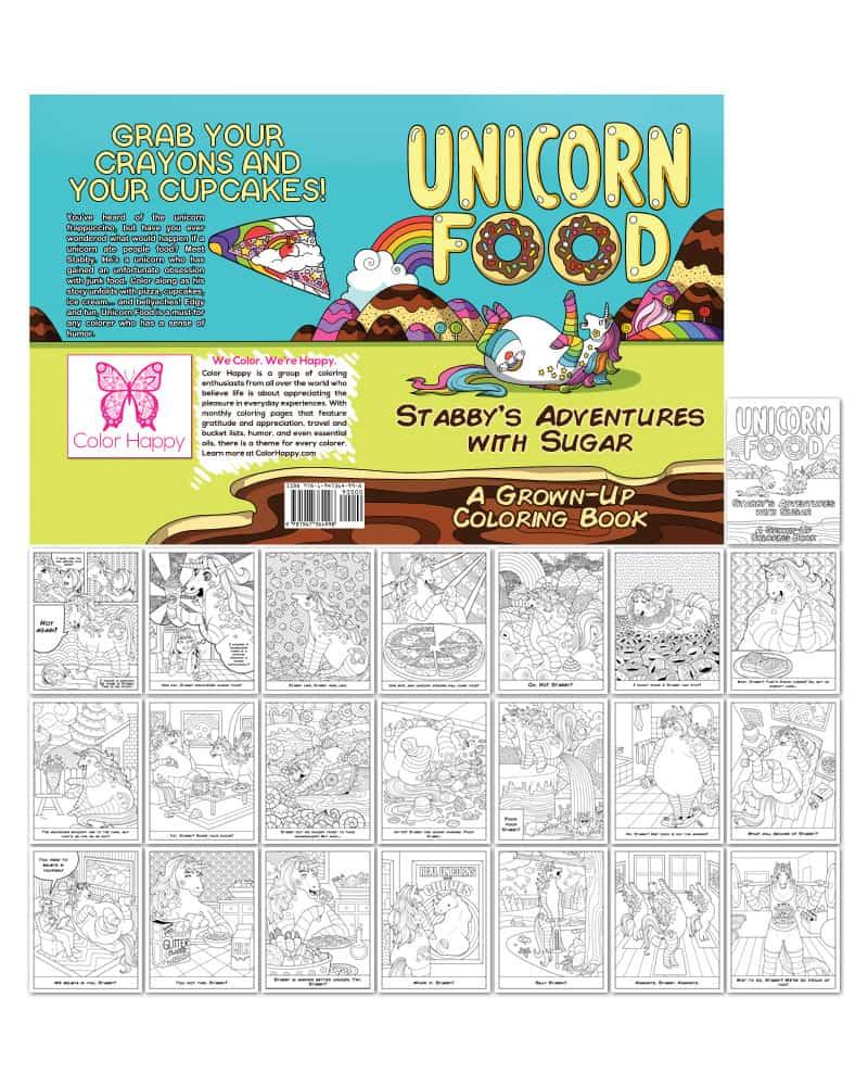 Unicorn Food Coloring Book