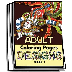 Adult Coloring Designs Book 1