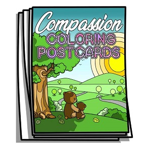 Compassion Coloring Postcards