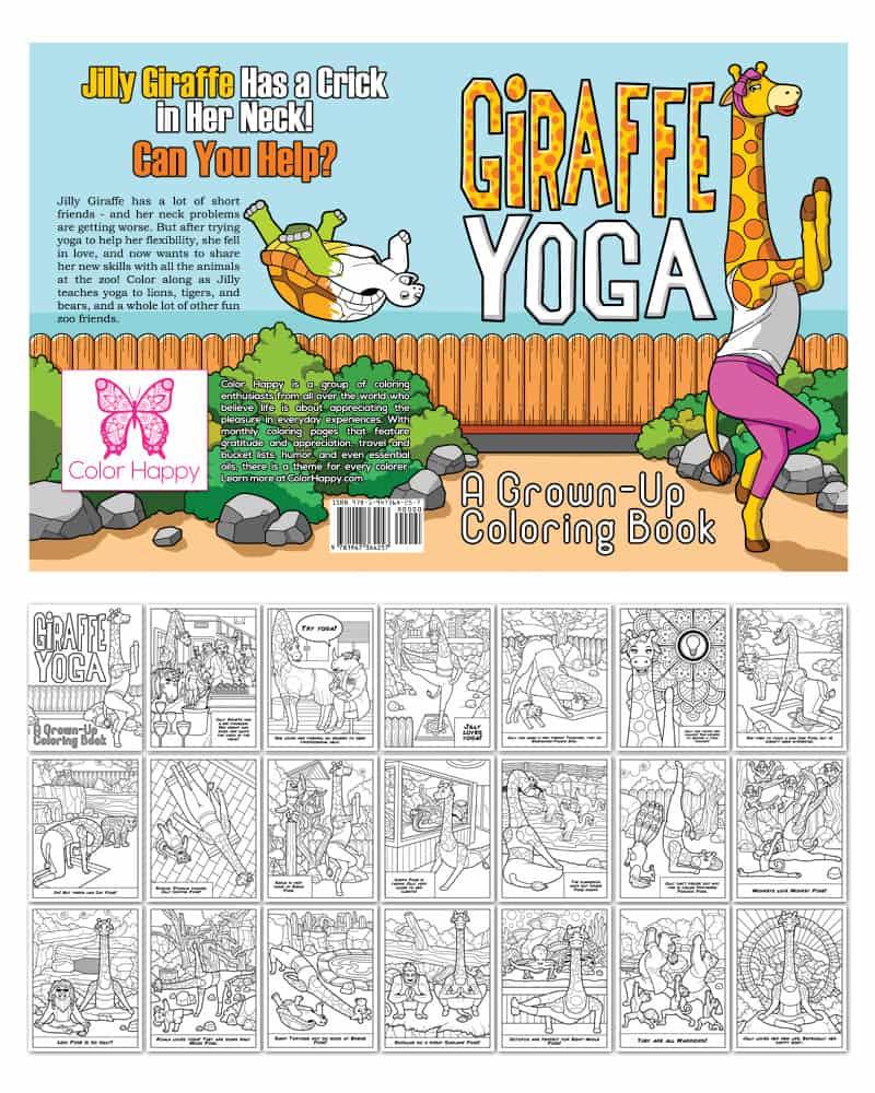 Giraffe Yoga Coloring Book