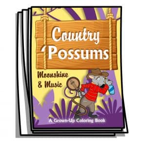 Country Possums Coloring Pages