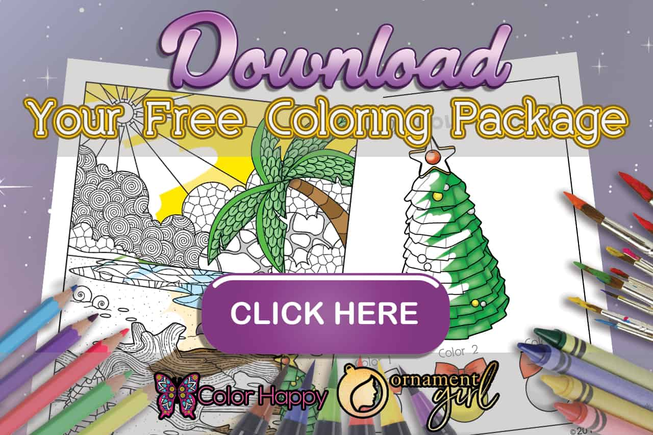 July's Ornament Girl Coloring Pages