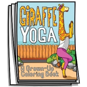 Giraffe Yoga Coloring Pages