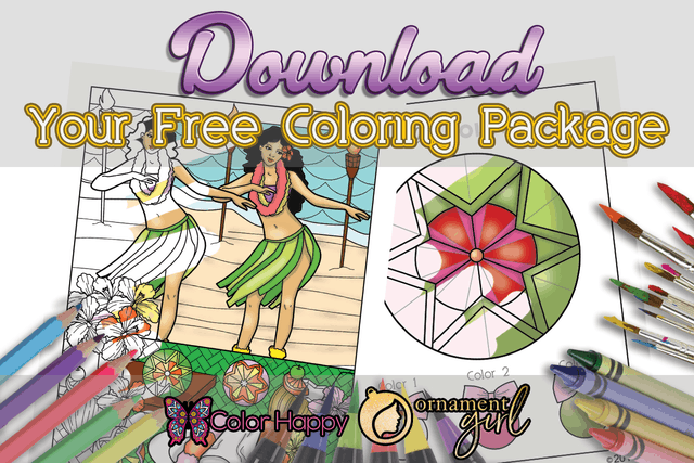 August's Ornament Girls Coloring Pages
