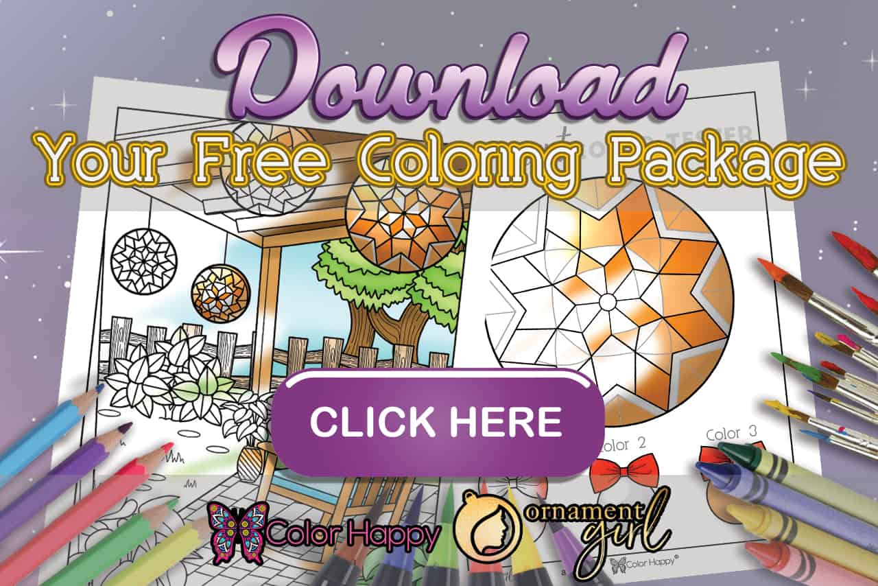 October 2019 Ornament Girls Coloring Pages
