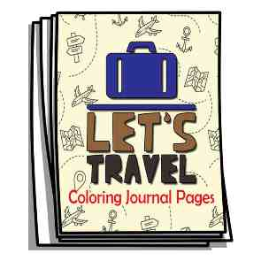 Let's Travel Coloring Journal