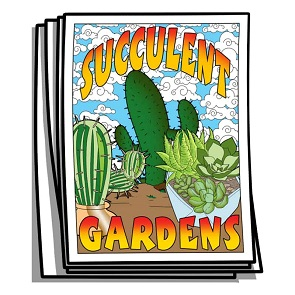 Succulent Gardens Coloring Pages