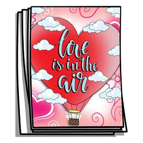 Love is in the Air Coloring Pages