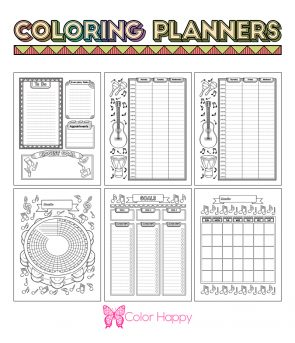 Music Coloring Planner