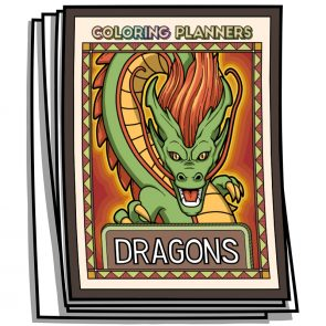 Dragons Coloring Planner