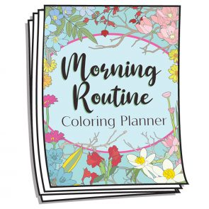 Morning Routine Coloring Planner Pages