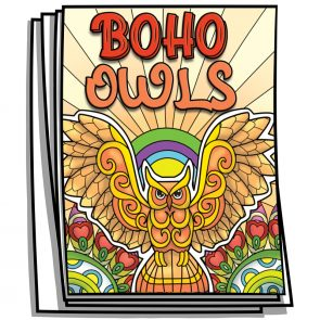 Boho Owls Coloring Pages