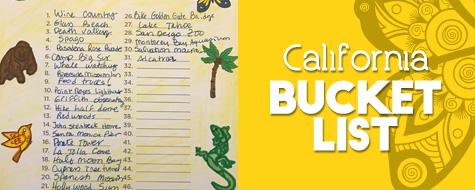 California Bucket List Paper Craft