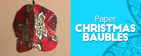 Paper Christmas Bauble Craft