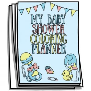 My Baby Shower Coloring Planner Pages