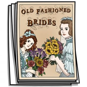 Old Fashion Brides Coloring Pages